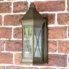 """Sandy Bay"" Brass Wall Lantern in Situ"