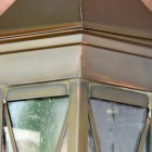 Close-up of the Brass Finish on the Lantern