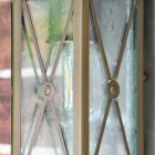 """Close-up of the Seeded Glass in the """"Sandy Bay"""" Wall Lantern"""