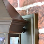 Close-up of the Brass Finish on the Lantern and Fixing Plate