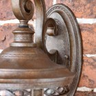 Close-up of the Bronze Finish on the Wall Lantern