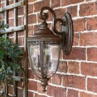 Top Fix Bronze Wall Lantern in Situ