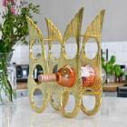 Side view of 'Angel Wings' Wine Rack in Kitchen