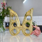 'Angel Wings' Wine Rack in Gold Finish