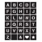 Individual Scrabble Letters & Symbols- Black