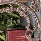 Close-up of the Ornate Scroll Design