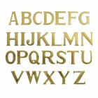 """Polished Brass Self Adhesive 3"""" Letters"""