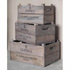 Wooden Guinness Crates with Harp Logo