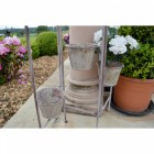 Shabby Chic Aged Cream Plant Stand