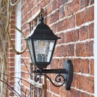 Traditional Bottom Fix Wall Lantern Finished in Black