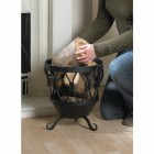 Small Sherwood Knot Iron Log Basket