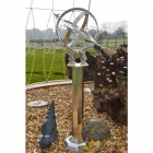 Antique Silver Armillary complete with Column