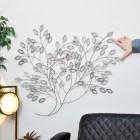 Silver Bush Wall Art to Scale