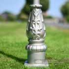 Silver Cast Iron Lamp Post Base