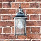 Front View of the Silver Top Fix Hanging Wall Lantern