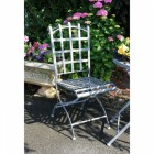 Palest Grey Wrought Iron Rectangular Table and Chairs Set