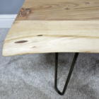 Acacia Wood Table Top With Simplistic Iron Legs