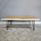 Simplistic Coffee Table Created From Acacia Wood & Iron