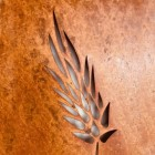 Barley Wall Art in a Rustic Iron Finish