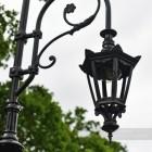 Antique Brown Lamp Post Hexagonal Luminaire