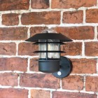"""Skive"" Contemporary Wall Light Finished in Black"