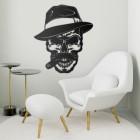 Gangster Skull with Hat & Cigar in full