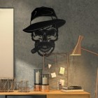 Gangster Skull Wall Art in Full