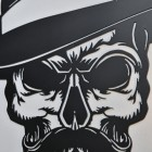 Close up of detailing on skull face