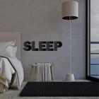 Black Metal Letters 'SLEEP'