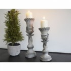 Wood Effect Stag Candle Holder - Large