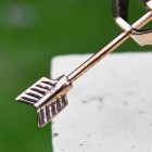 Close up of the Copper Fletch on the Arrow