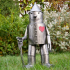 Small Tin Man Garden Sculpture in Situ