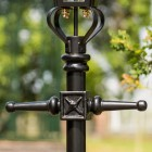Victorian Lamp Post Black - Ladder Bars and frog collar