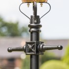 Close up detail of casting on Victorian lamp post ladder bars