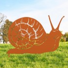 Snail Silhouette in Orange