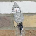Snowman Bottle Top in Situ in a Bottle