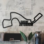 Sochi Autodrom Racing Circuit Wall Art in the Living Room
