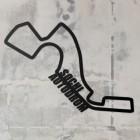 Sochi Autodrom Racing Circuit Wall Art on a Rustic Grey Wall