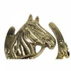 Solid brass horse head key hook