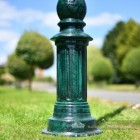 Solid Cast Iron Antique Green Lamp Post Base