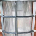 """Close-up of the Glass in the """"South Shore""""  Silver Large Top Fix Wall Lantern"""