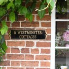 Solid Brass House Name Plaque on House