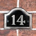 Black & Chrome cast number sign - no 14