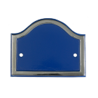 Blank Blue & Chrome Arched Number Sign