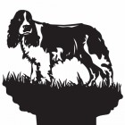 Springer Spaniel Dog Weathervane Top