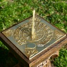 Square Sundial Finished in Polished Brass