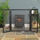 Square Three Fold Fireguard With Cary Handles