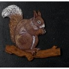 Cast Iron Effect Oval House Name Sign - Squirrels