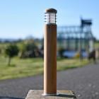 Stainless Steel & Teal Enterance Pillar Light