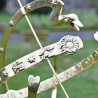 Close-up of the Polished Brass Detailing on the Serpent Armillary